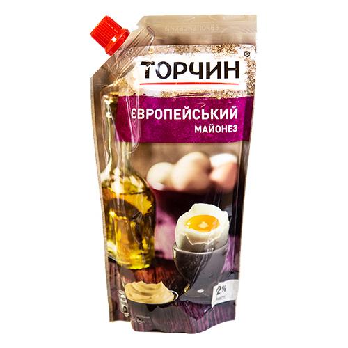 МАЙОНЕЗ ТОРЧИН ЄВРОПЕЙСЬКИЙ 300Г Д/П