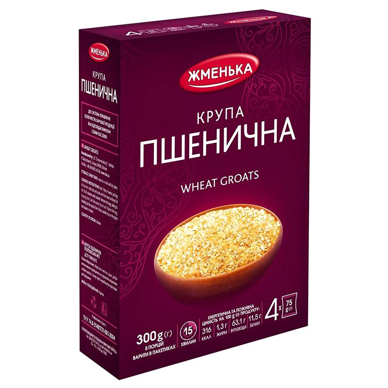 КРУПА ПШЕНИЧНА В ПАКЕТИКАХ 300Г ЖМЕНЬКА