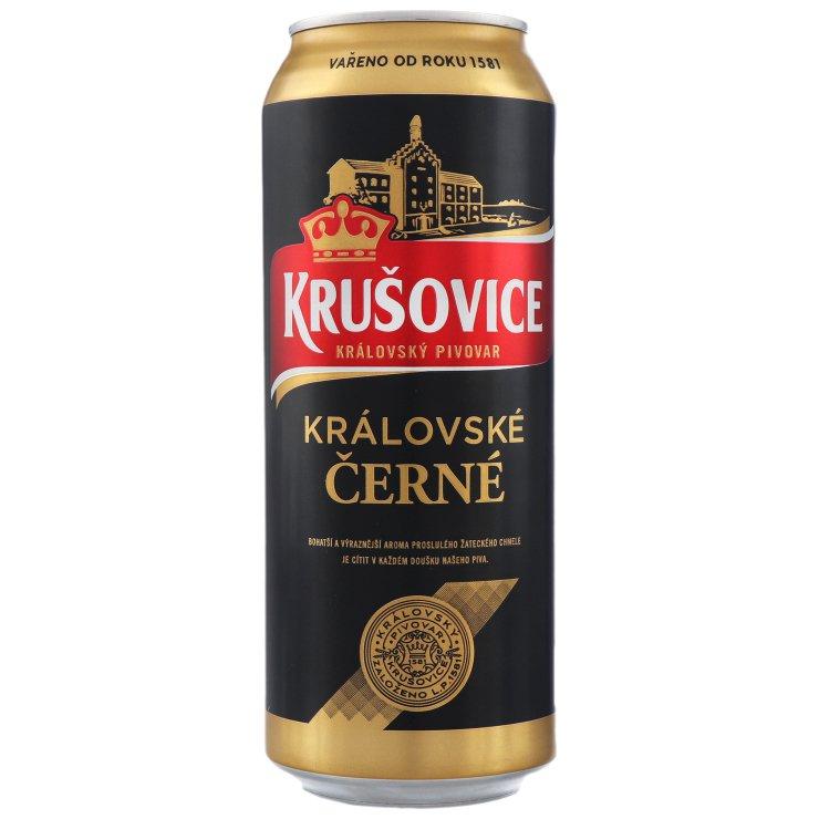 ПИВО KRUSOVICE CERNE ТЕМНЕ Ж/Б 3,8% 0,5Л