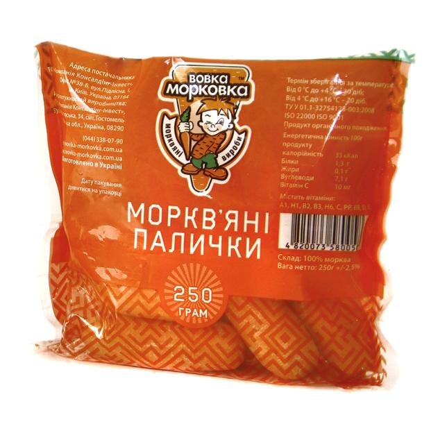 МОРКВ'ЯНІ ПАЛИЧКИ, 450Г